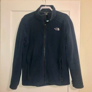 Navy blue North Face Men's ZIP-up Jacket